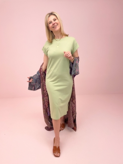 Elisse t-shirt dress Reseda