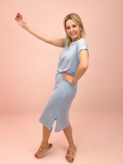 Elisse t-shirt dress powder blue