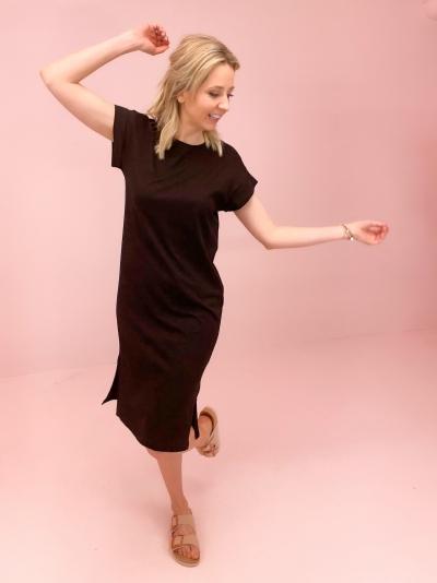Elisse t-shirt dress black