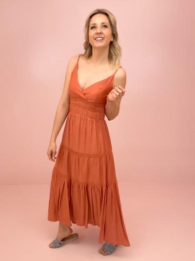 Tally strap dress logo