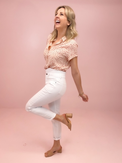 Zora jeans white