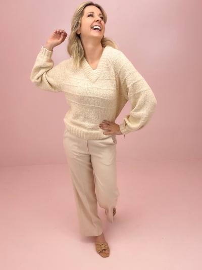Lotte knit white swan