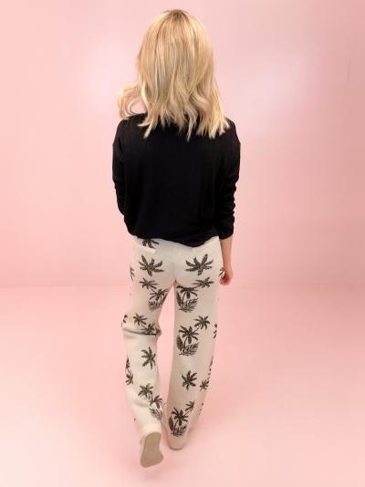 Palmtree pants white