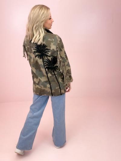Camouflage palmtree jacket  logo
