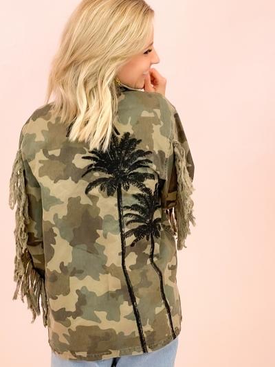 Camouflage palmtree jacket  camouflage