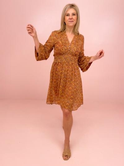 Callie dress brick