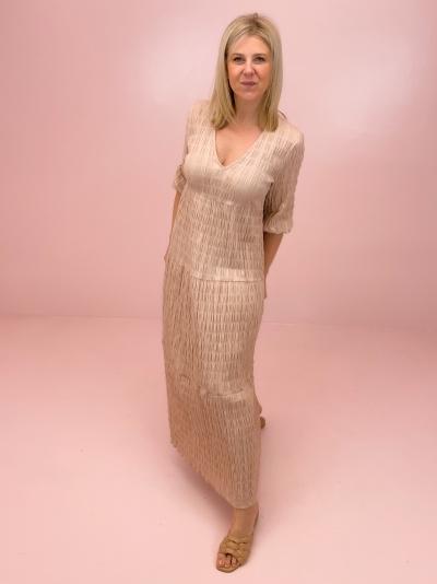 New Camma Smocked dress beige