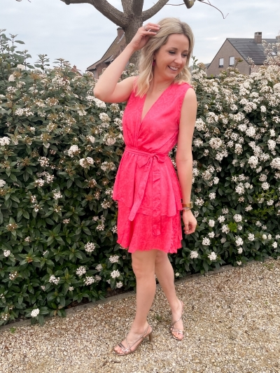 Sivane Uni dress corail