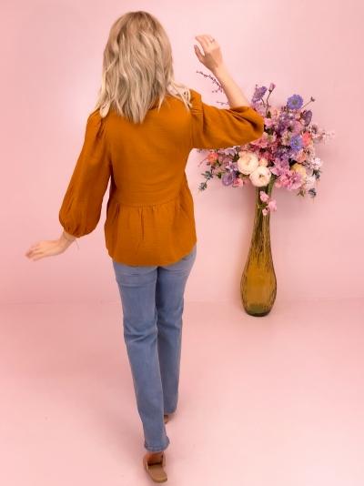 Renetta blouse pumpkin Spice