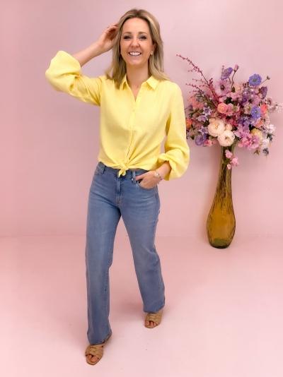 Renetta straight blouse sunshine