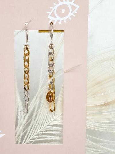 Chanel -E-G Silver/gold