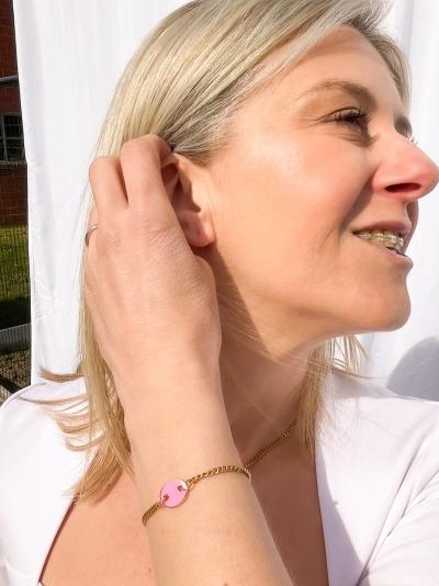 Pink eye armband pink