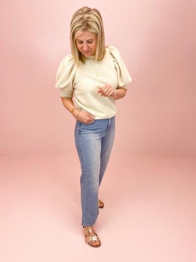 Highwaist Relaxed jeans light blue