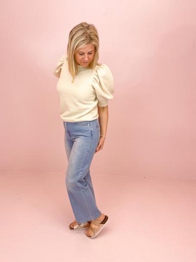 Highwaist Relaxed jeans logo