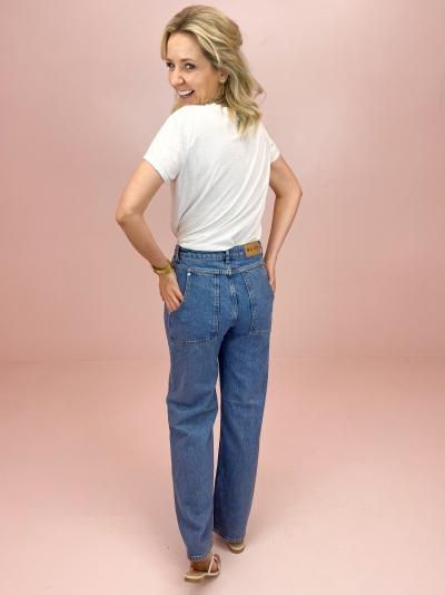 Wide Leg jeans mid blue