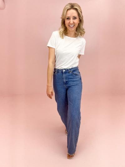 Wide Leg jeans logo