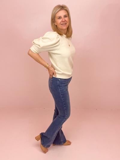 Bootcut high waist skinny mid blue