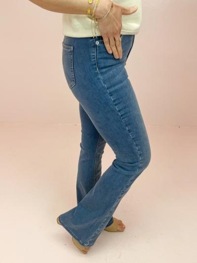Bootcut high waist skinny logo