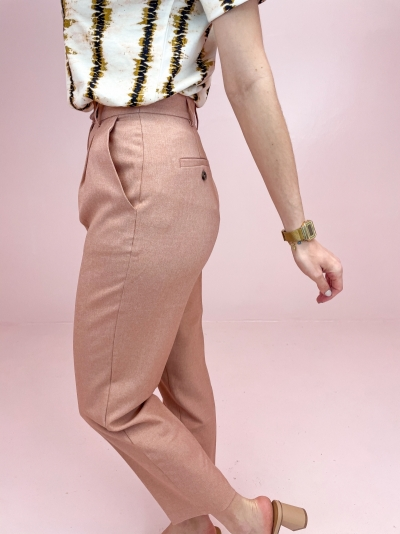 Recycled Cropped Suit Pants rust