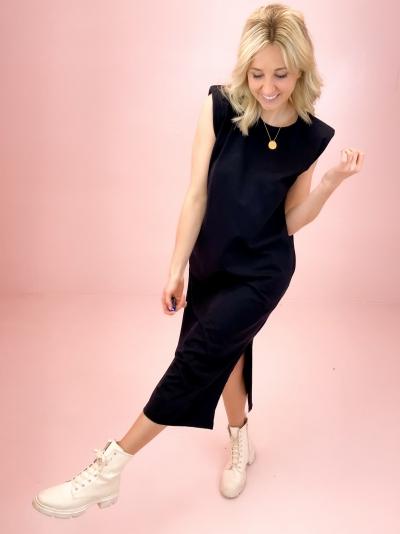 Eduarda Ankle Tee dress black