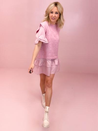 Frenchie knit vest rose