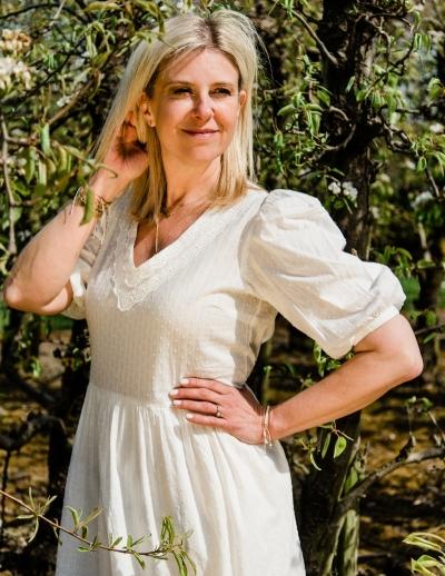 Anthea dress broken white
