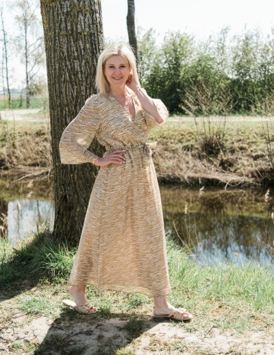 Skiva dress dried tobacco
