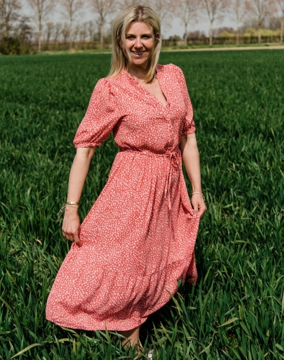 Clover dress faded rose