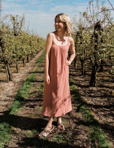 Avery dress Pink/brown