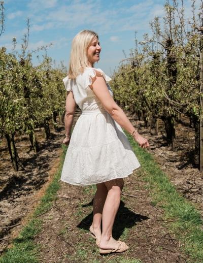 Shelley dress white