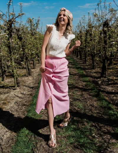 Aranka skirt pink