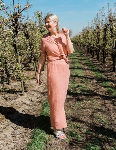 Lena blouse pink/Brown