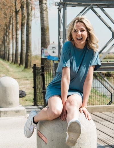 Bosko Kattie dress stellar blue