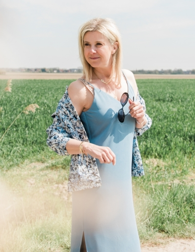 Bosko Leslee dress stellar blue