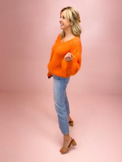 Milana Mohair knit orange