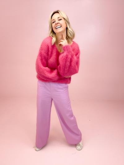 Milana Mohair knit dark pink