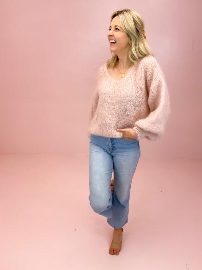 Milana Mohair knit light pink