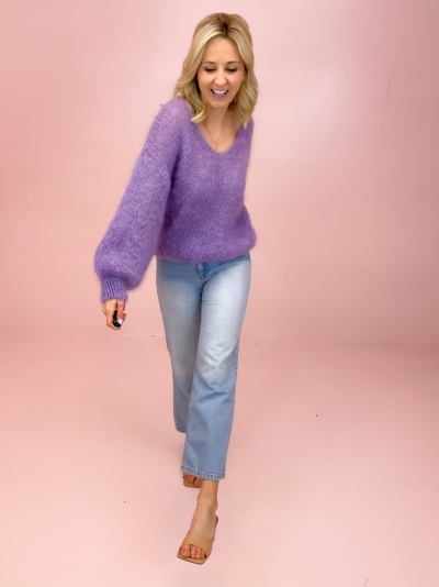Milana Mohair knit lilac