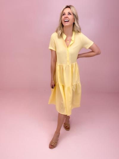 Lipe dress yellow check