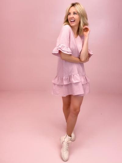 Rikka dress Rose checks