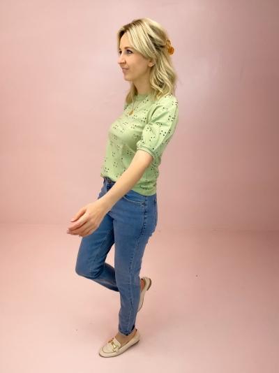 Crystal Mom jeans denim blue