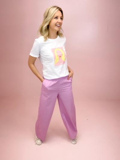 Mo Alva lady tee white/pink lady