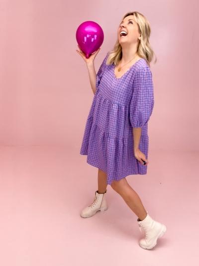 Erin dress pink check
