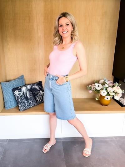 Elma wide shorts light blue