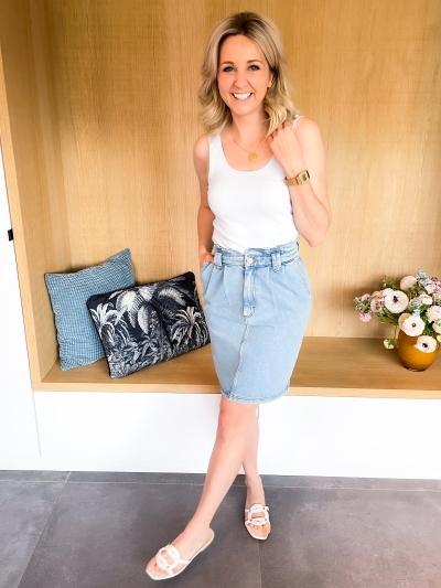 Elma skirt light blue