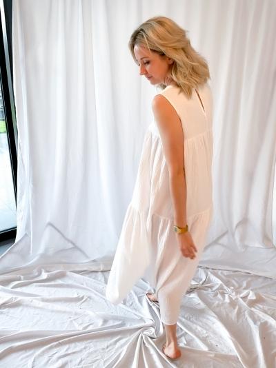 Dune long dress white