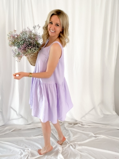 Renetta Apollonia dress lavender