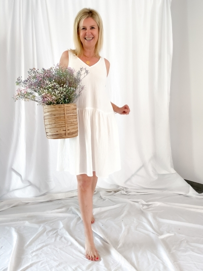 Renetta Apollonia dress white