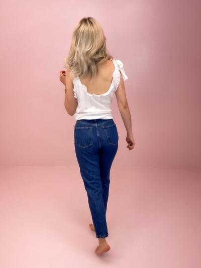 Rigid Mom Jeans mid blue