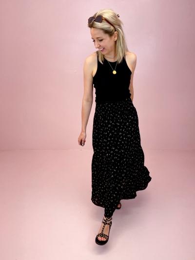 Alexio skirt blundell print